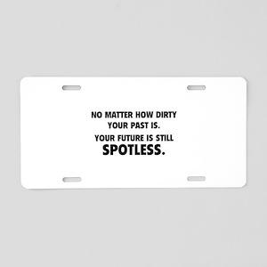 Spotless Aluminum License Plate