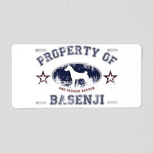 Basenji Aluminum License Plate