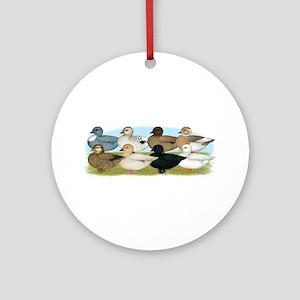 Eight Call Ducks Ornament (Round)