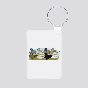 Eight Call Ducks Aluminum Photo Keychain