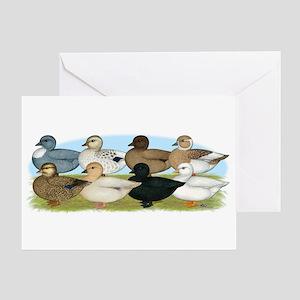 Eight Call Ducks Greeting Card