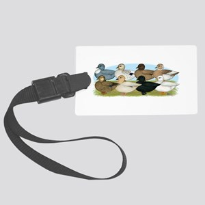 Eight Call Ducks Large Luggage Tag