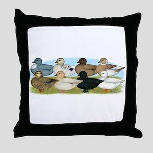 Eight Call Ducks Throw Pillow