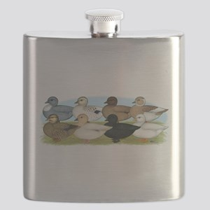 Eight Call Ducks Flask
