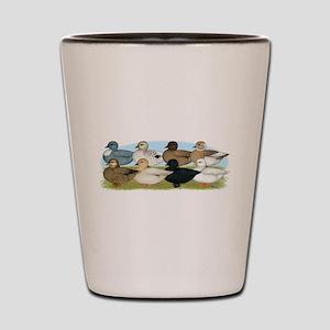 Eight Call Ducks Shot Glass