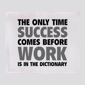 Succes Work Throw Blanket