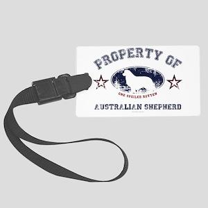 Australian Shepherd Large Luggage Tag