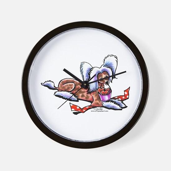 Crested Love Bucket Wall Clock