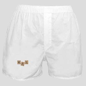 Mrs Scrabble Letters Boxer Shorts