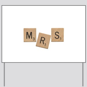 Mrs Scrabble Letters Yard Sign
