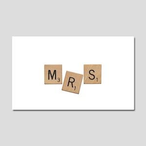 Mrs Scrabble Letters Car Magnet 20 x 12