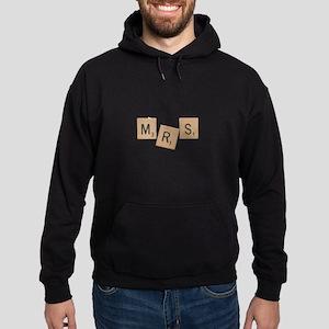 Mrs Scrabble Letters Hoodie (dark)