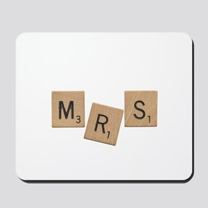 Mrs Scrabble Letters Mousepad