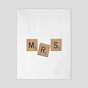 Mrs Scrabble Letters Twin Duvet
