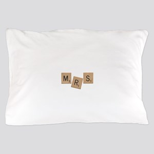 Mrs Scrabble Letters Pillow Case