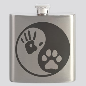 Human & Dog Yin Yang Flask