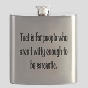 Tact Sarcasm Flask