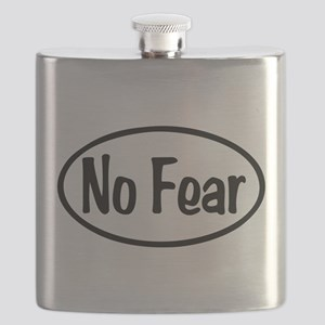 No Fear Oval Flask
