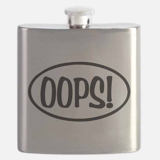 Oops! Oval Flask