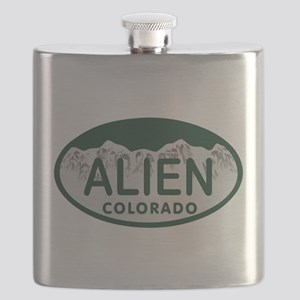 Alien Colo License Plate Flask