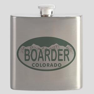 Boarder Colo License Plate Flask