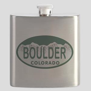 Boulder Colo License Plate Flask