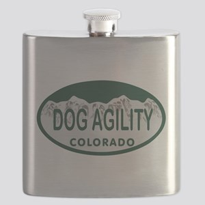 Dog Agility Colo License Plate Flask