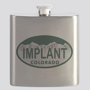 Implant Colo License Plate Flask
