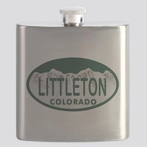 Littleton Colo License Plate Flask