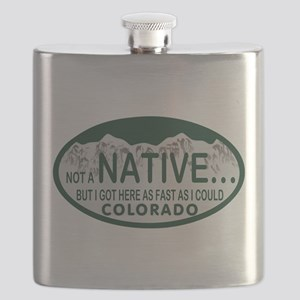 Not a Native Colo License Plate Flask