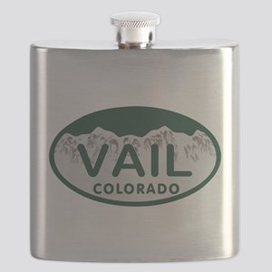 Vail Colo License Plate Flask