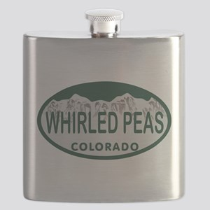 Whirled Peas Colo License Plate Flask