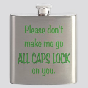 ALL CAPS LOCK Flask