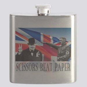 Scissors Beat Paper Flask