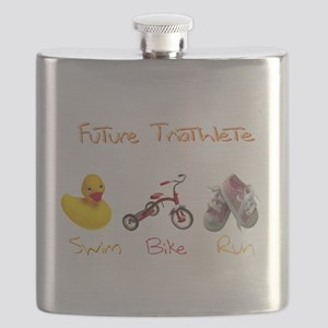 Future Girl Triathlete Flask