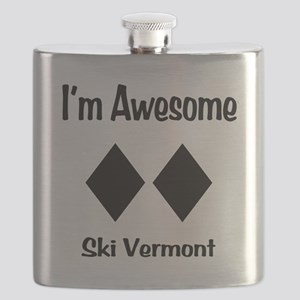 I'm Awesome Ski Vermont Flask