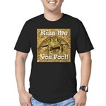 Kiss Me You Fool Men's Fitted T-Shirt (dark)