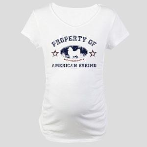 American Eskimo Maternity T-Shirt