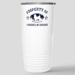 American Eskimo Stainless Steel Travel Mug