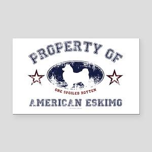 American Eskimo Rectangle Car Magnet