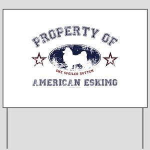 American Eskimo Yard Sign