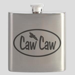 Caw Caw Oval Flask
