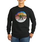 XM2-Three Chihuahuas Long Sleeve Dark T-Shirt