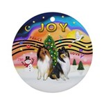 XMusic2 - Two Collies Ornament (Round)