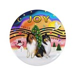 "XMusic2 - Two Collies 3.5"" Button (100 pack)"