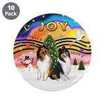 "XMusic2 - Two Collies 3.5"" Button (10 pack)"