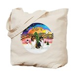 XMusic2 - Two Collies Tote Bag