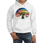 XMusic2 - Two Collies Hooded Sweatshirt