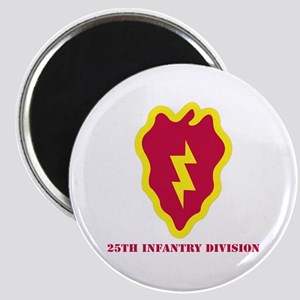 SSI - 25th Infantry Division with Text Magnet