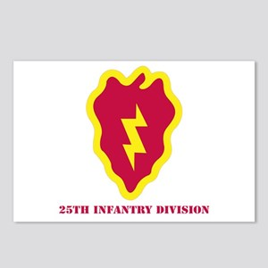 SSI - 25th Infantry Division with Text Postcards (